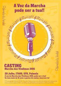 Cartaz casting Marcha Vindimas 2016